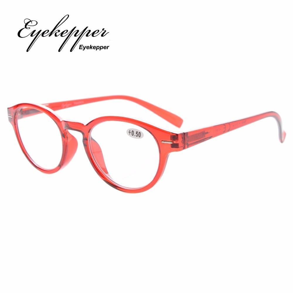 R091 Eyekepper Retro Key Hole Oval Round Readers Spring-Hinges Reading Glasses +0.5/0.75/1/1.25/1.5/1.75/2/2.25/2.5/2.75/3/3.5/4