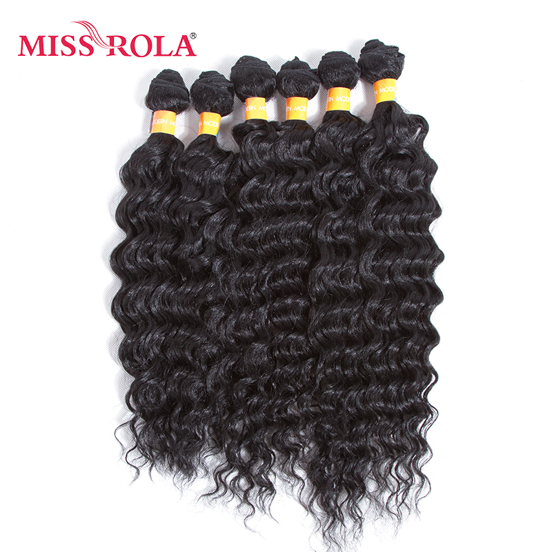 Miss Rola Rose Wave Synthetic Hair Weave 6pcslot Black Short Wavy