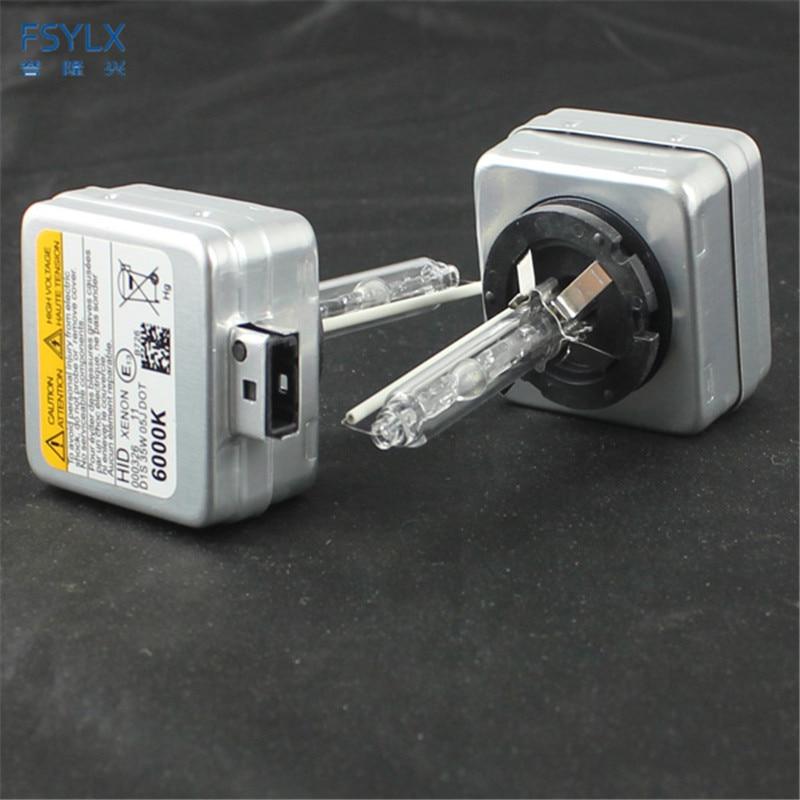 FSYLX 35W D1S Xenon HID Bulb 4300K 6000K 8000K 10000K HID Xenon Lamp D1S D3S ბოლქვი HID XENON BULBS D1 / D1S / D1C 12V მანქანის შუქურა