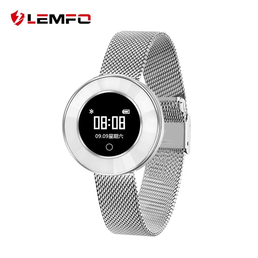 LEMFO X6 леди смарт-браслет IP68 Водонепроницаемый Сталь ремень мониторинга сердечного ритма крови Давление Смарт-часы Для женщин Smartwatch