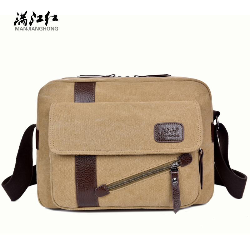 Brand Messenger Bag Preppy Style Canvas 100% Cotton Crossbody Bag for Men  Contracted joker Solid Shoulder Bag Leisure Bag 2018-in Crossbody Bags from  ... df6e3e5916760