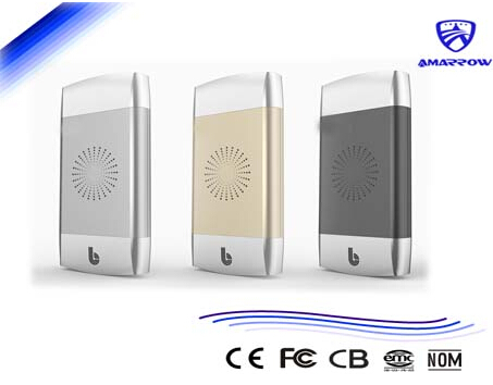 3-Coils QI Wireless Backup Battery with charge battery together