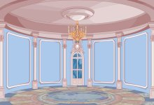 Laeacco Princess Cartoon Palace Dome Chandelier Wall Floor Child Portrait Photo Backdrops Backgrounds Photocall Photo Studio(China)