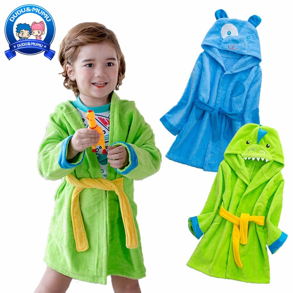 Childrens Cathrobe Cotton Animal Dinosaur/dog Cartoon Design Boys Hooded Pure Cloak Kids Bath Towel High Quality Carefully Selected Materials Towels Baby Care