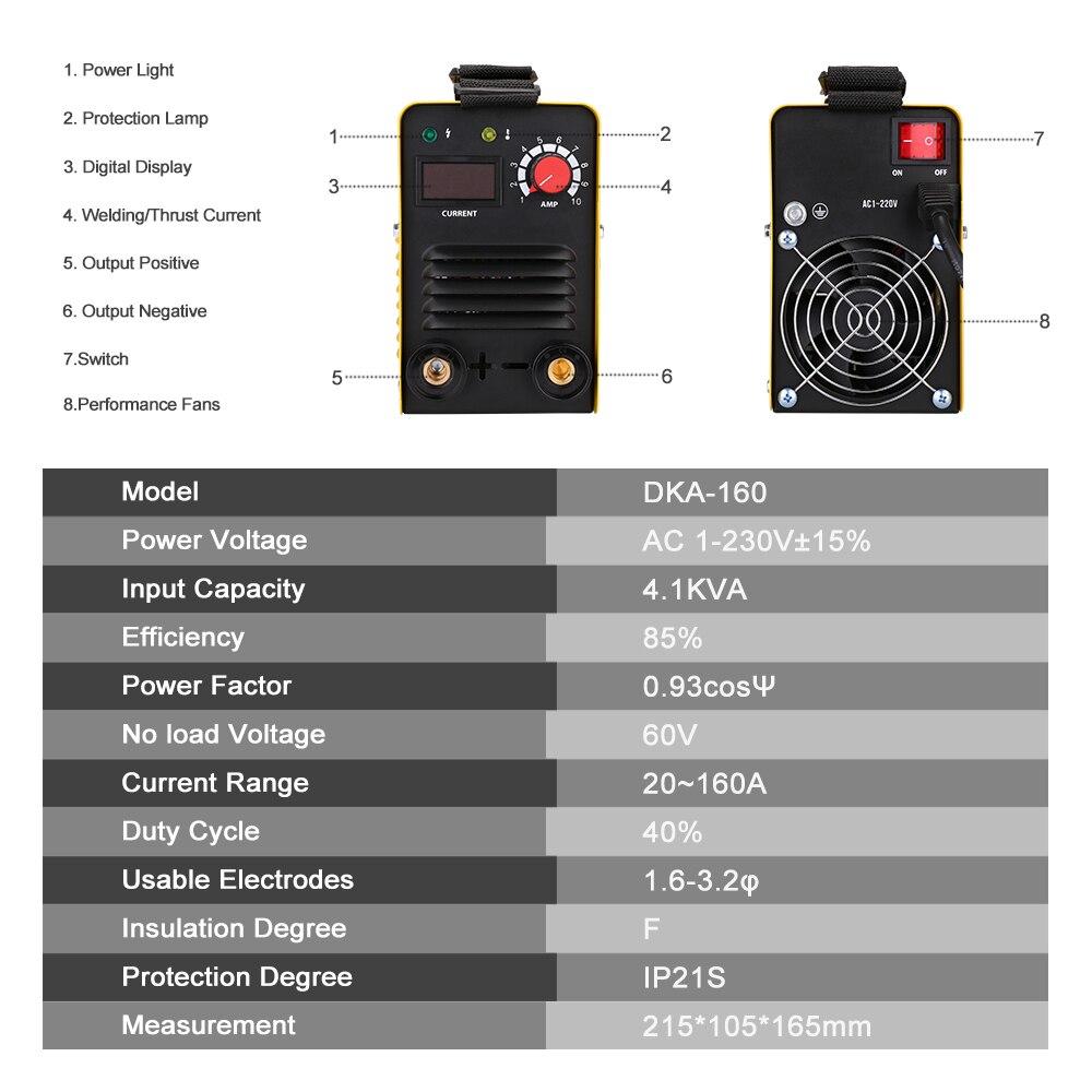 DEKO DKA 160 160A 4.1KVA IP21S インバーターアーク電気溶接機の Mma 溶接機作業と電気作業  グループ上の ツール からの アーク溶接機 の中 3