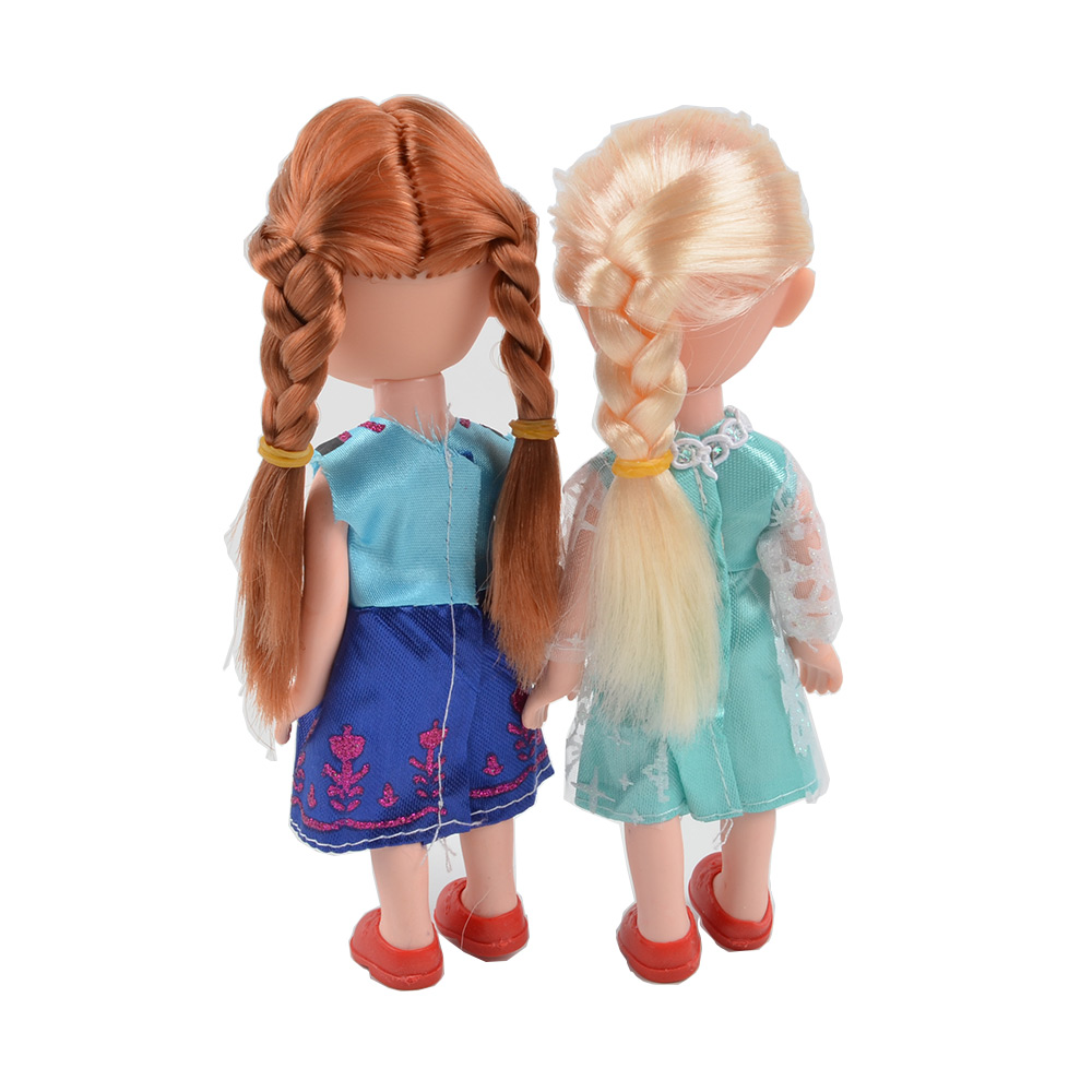 Back Young Elsa and Anna Dolls