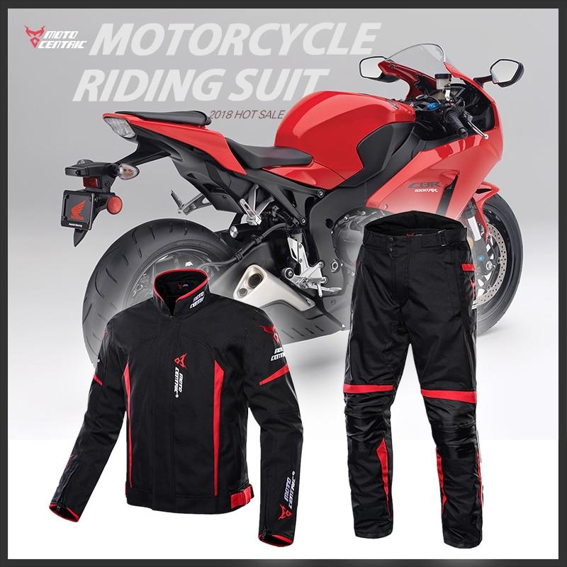 Motocentric Motorcycle Jacket Protection Gear 7 Pcs Protective Pads Motocross Jacket Pants Suit Waterproof Jaqueta Spring