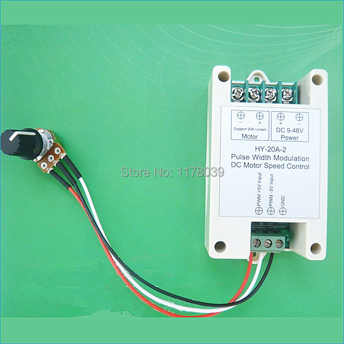 9 48V 20A High Torque PWM DC motor speed controller,Support ...
