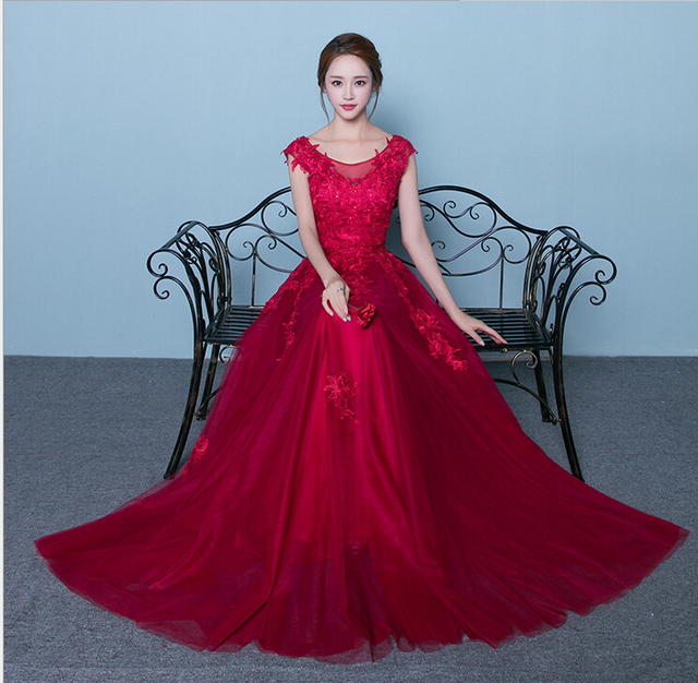 Free Shipping 2017 New High End Bride Engagement Evening Dress Long
