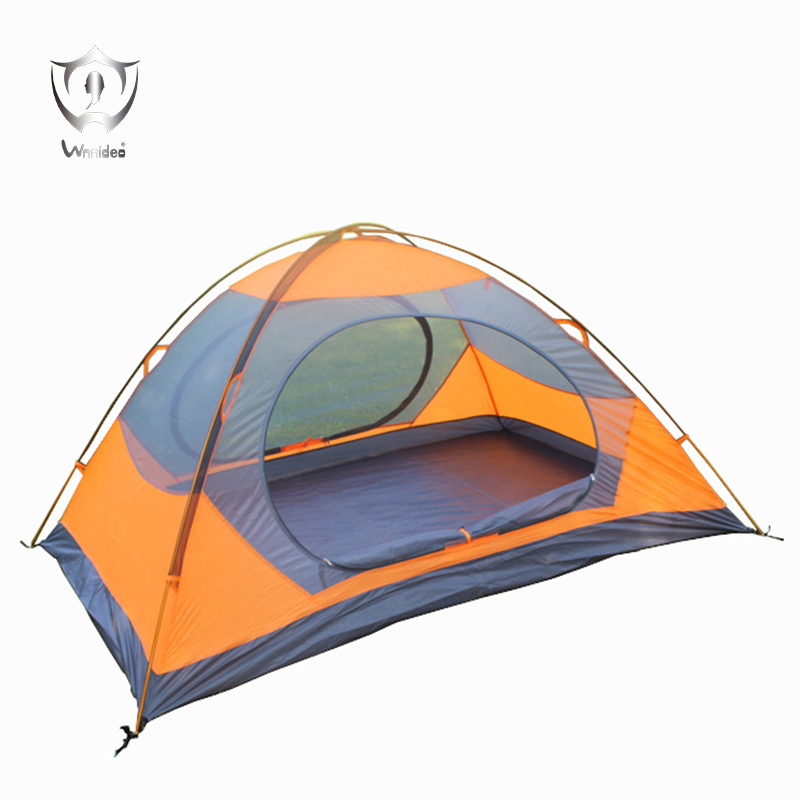 Wnnideo Outdoor Double Layer Tent Aluminum Poles for 2 Person Camping Hiking Waterproof Beach Tent mobi outdoor camping equipment hiking waterproof tents high quality wigwam double layer big camping tent