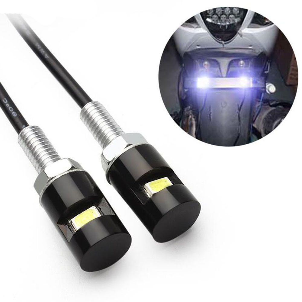 Motorcycle License Plate Screw LED Light White 12V For Motocross Car Taillight Accessories For Harley Touring