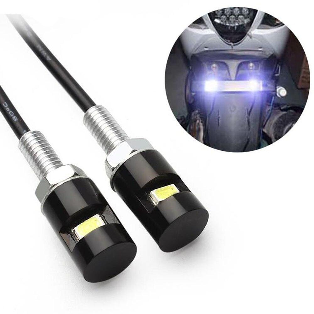 Motorrad Kennzeichen Schraube LED Licht Weiß 12 V für Motocross Auto Rücklicht Zubehör Für Harley touring