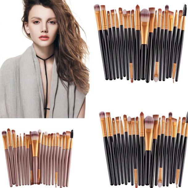 20 pcs/set Makeup Brushes Cosmetics Set tool beauty Make-up Toiletry Kit Wool foundation eyebrow powder blush brushes for makeup