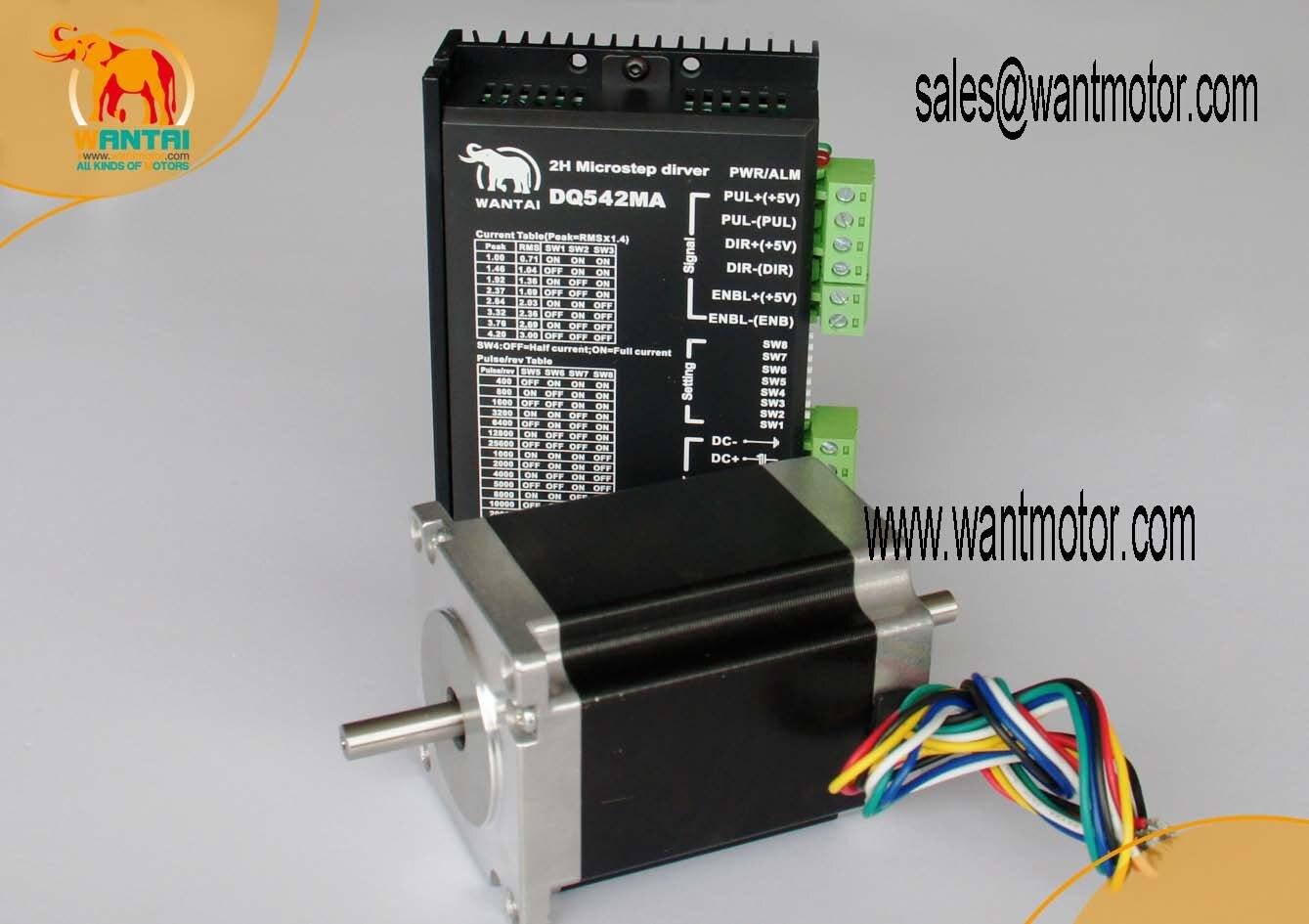 High Nema 23 Stepper Motor 185oz in CNC Matching Driver 4 2A 50VDC 125 Microstep Engaving