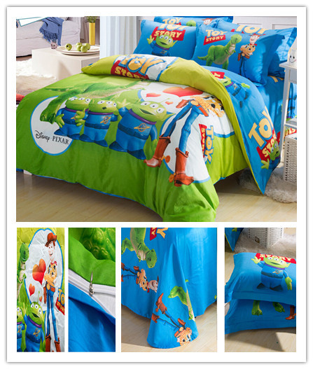 Toy Story Duvet Cover Sets Boys Bedding Christmas Gift Kids Bed Sheet Single Twin Queen