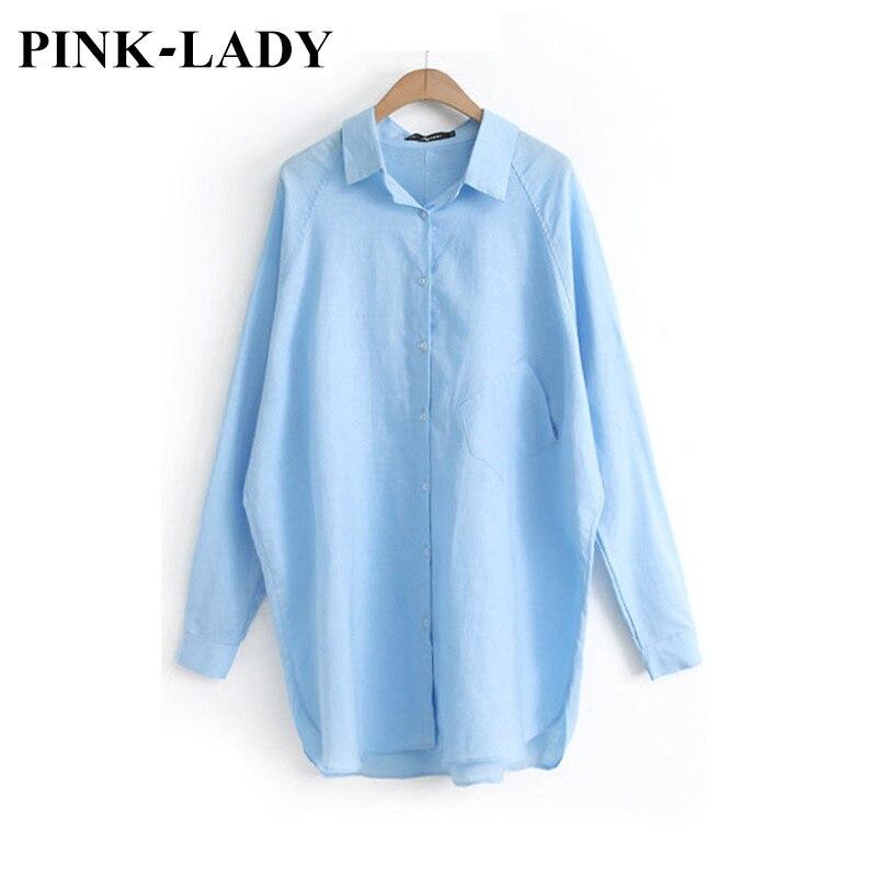 Plus size clothing casual solid manga larga de tela transpirable de algodón y li