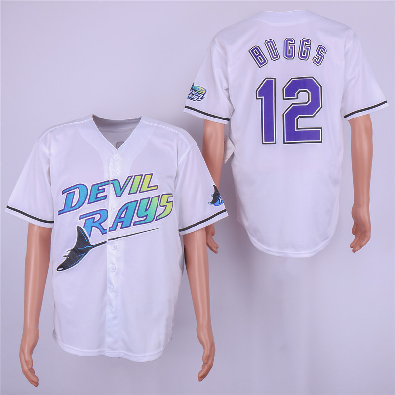 Men's Retro 1998 Wade Boggs High Quality Throwback Baseball Jerseys Stitched Name&Number Size M-3XL цена