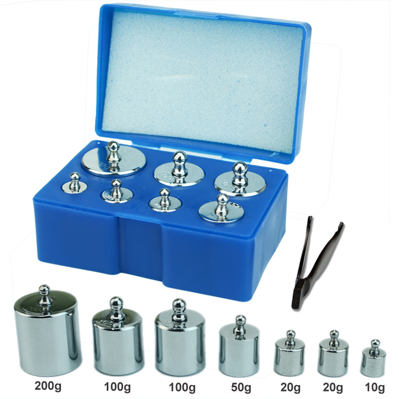 Calibration Weight Set 7PCS/Set 200g 100g 50g 20g 10g Grams Precision Steel Scale Weight Kit with Tweezers for Balance ScaleCalibration Weight Set 7PCS/Set 200g 100g 50g 20g 10g Grams Precision Steel Scale Weight Kit with Tweezers for Balance Scale