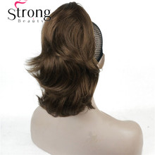 12 Dual Use Curly Styled Clip in Claw Ponytail Hair Extension Synthetic Hairpiece 125g with a