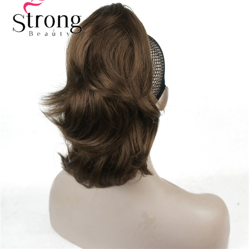12 Dual Use Curly Styled Clip in Claw Ponytail Hair Extension Synthetic Hairpiece 125g with a Jaw/claw Clip