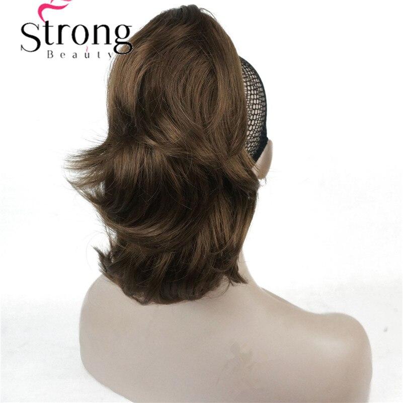 """12 """"dual Verwenden Lockige Styled Clip In Klaue Pferdeschwanz Haar Verlängerung Synthetische Haarteil 125g Mit Ein Kiefer/ Klaue Clip"""
