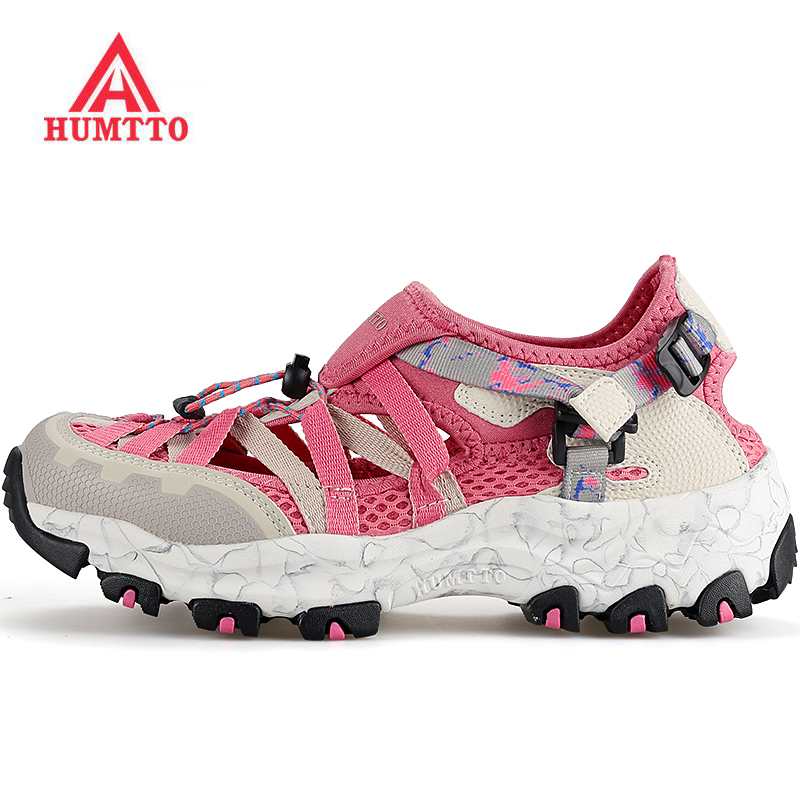 HUMTTO Women's Summer Sports Outdoor Hiking Trekking Aqua Shoes Female Sneakers For Women Climbing Mountain Water Shoes Woman humtto women s leather outdoor hiking trekking sneakers shoes for women purple sports climbing mountain shoes woman sneaker
