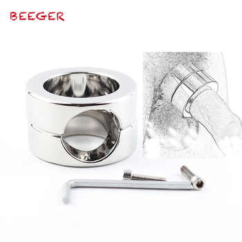BEEGER 620g Weights The Stainless Steel Penis Trapper,Stainless Steel Ball Stretchers Cock Ring Locking Real Men CBT Sex Produc - DISCOUNT ITEM  0% OFF All Category