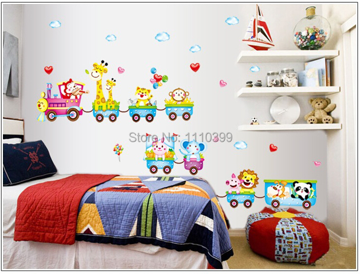 Aliexpress.com : Buy Big Size Hot Sell DIY Cartoon Train Kindergarten Childrenu0027s  Bedroom Wall Stickers Removable Kids Wall Decals Home Decoration From ... Part 16
