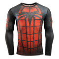Men 2016 spider-man ironman for captain America compression shirt marvel comics hero soldiers crime