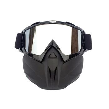 COPOZZ Men Women Ski Snowboard Snowmobile Goggles Snow Winter Windproof Skiing Glasses Motocross Sunglasses with Face Mask
