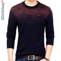 2018 brand male pullover sweater men knitted jersey winter thick striped sweaters mens knitwear clothes camisa masculina 6329