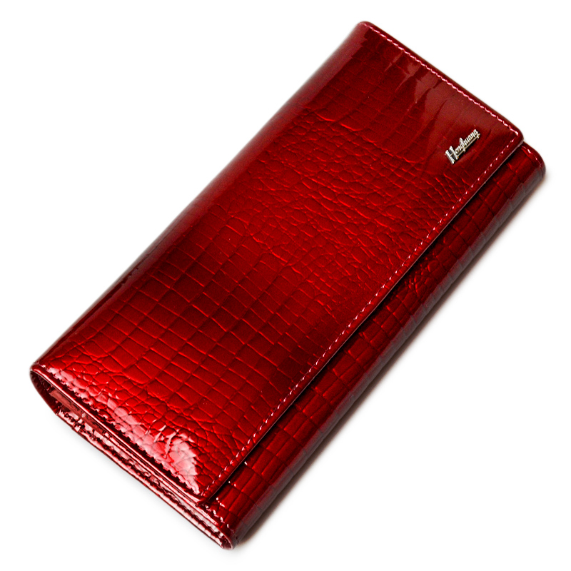 HH Brand Alligator Womens Wallets Genuine Leather Ladies Clutch Coin Purses Hasp Luxury Patent Crocodile Female Long Wallet luxury brand wallet women genuine leather purses long style ladies wallets crocodile pattern slim money bag