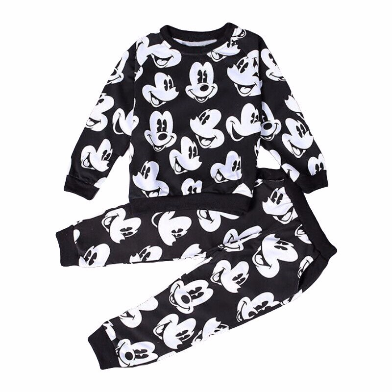 Boys Girls Clothing Sets Fashion Mickey Minnie Baby boy T-shirt+Pants Suit 2pcs Outfits Kids Sport Suit For Children Clothes Set 1