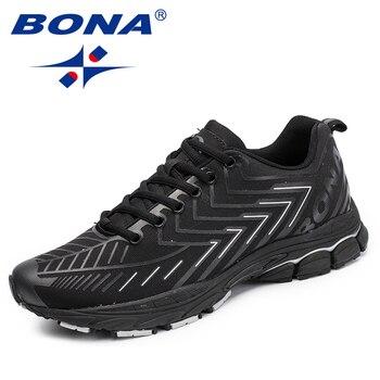 ボナ新古典スタイル男性レースアップランニングシューズ男性運動靴男性屋外ジョギングスニーカー靴ファスト送料無料