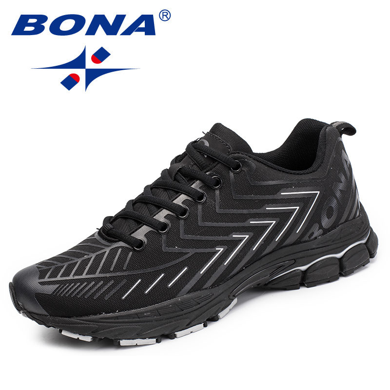 BONA New Classics Style Men Running Shoes Lace Up Men Athletic Shoes Mesh Male Outdoor Jogging Sneakers Shoes FAST Free Shipping