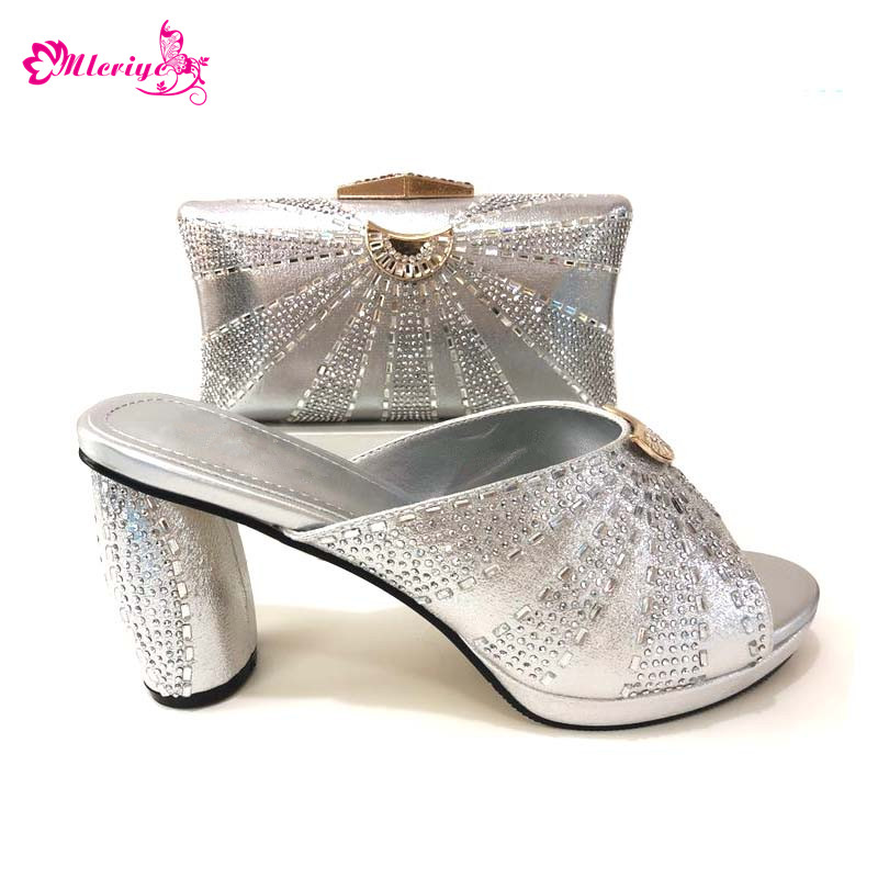 цена на Latest Design Women Shoes with Matching Bags Set for Party In Women African Shoes and Bag Sets High Quality Bag and Shoes Sets
