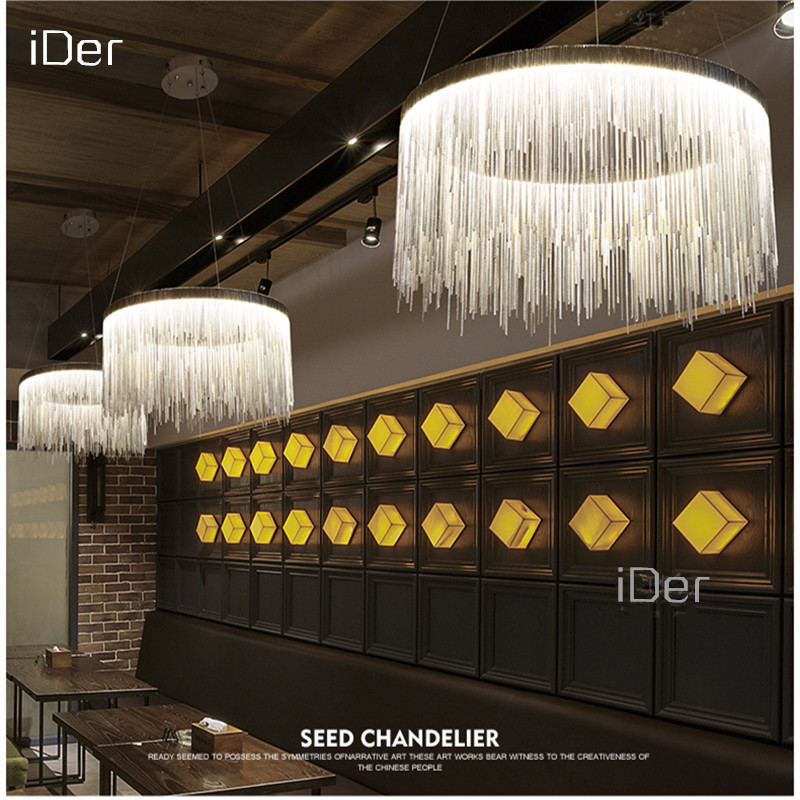 Modern high end villa art personality lamps simple atmosphere chain chandelier Nordic bedroom living room restaurant lights