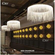 High end moderno villa arte lampade personalità atmosfera semplice catena lampadario Nordic camera da letto soggiorno luci ristorante