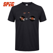 Super cool Bicycle vinyl wheels men's t-shirt / 9 Colors