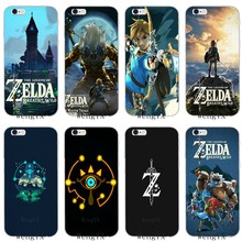 La leyenda de Zelda breath of The wild Slim suave de silicona teléfono funda para iphone 4 4s 5 5s 5c iphone 6 6s más 7 7plus 8 8 X(China)