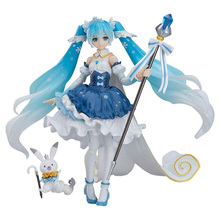 Anime Vocaloid Hatsune Miku Figma Ex-054 Snow Miku Snow Princess Ver. Pvc Action Figure Collectible Model Kids Toys Doll Gift цены