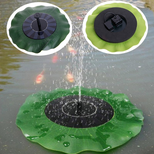 Floating Lotus Leaf Shape Solar Fountain Water Pump Garden Pond Decoration  Water Circulation For Oxygen Aquatic