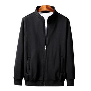 Image 2 - גברים של גודל גדול מעיל סתיו וחורף ארוך שרוול 6XL 7XL 8XL 9XL 10XL שחור אפור כותנה רוכסן גדול גודל מזדמן מעיל