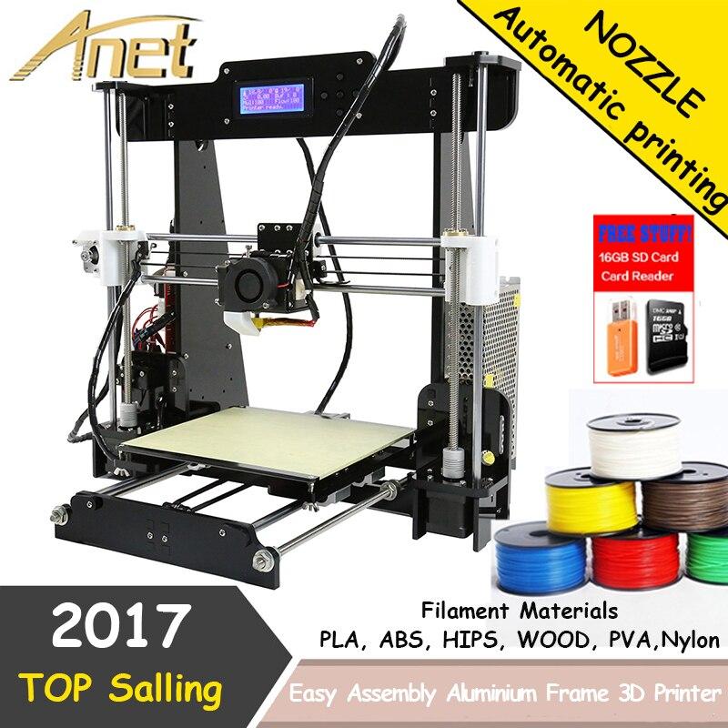 2018 pas cher 3d imprimantes acrylique cadre reprap prusa i3 Anet A8 3d imprimante kit avec grande impression taille 220*20*240mm 2004 LCD