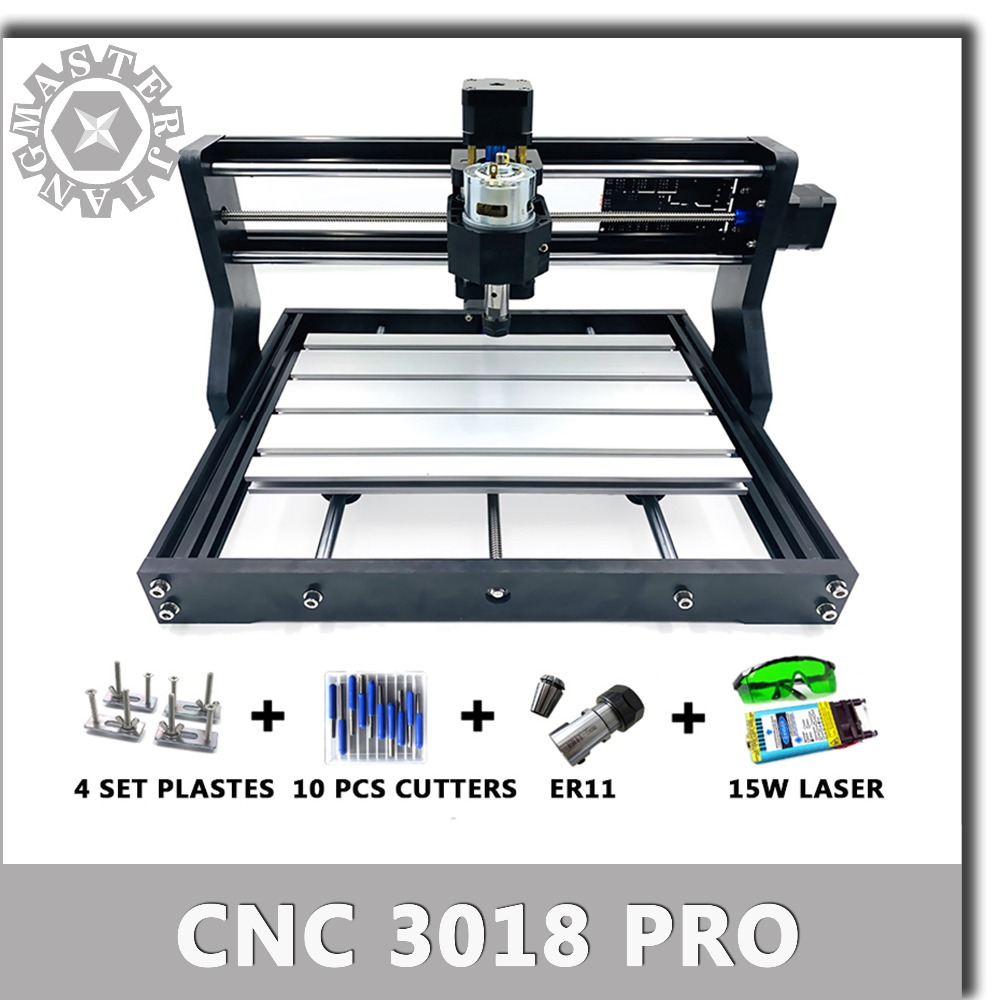 New CNC 3018 Pro GRBL Diy mini cnc machine 3 Axis pcb Milling machine Bluetooth Wood Router laser engraving CNC3018 work offline-in Wood Routers from Tools