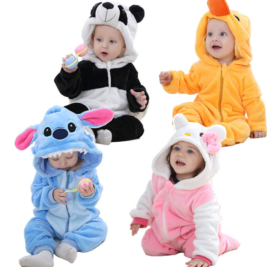 cute baby costume baby boy clothes cotton flannel quilted jumpsuit