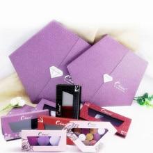Coosei Empty Magnetic Eyeshadow Palette Violet Purple Diamond Makeup Magnet Eye Shadow DIY