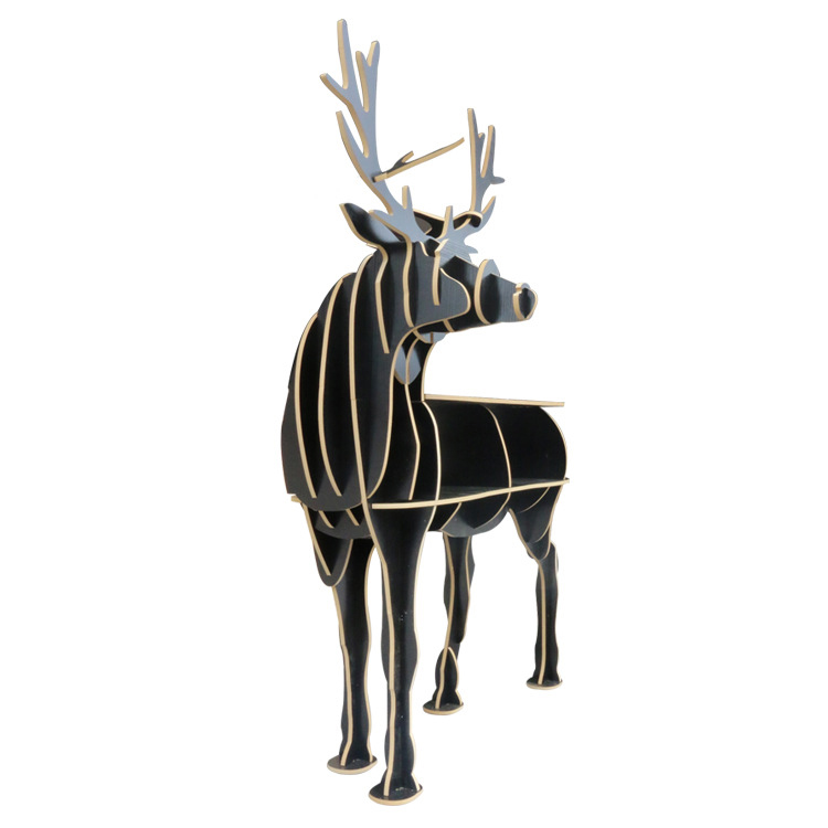 Creative Nordic European side table style turned deer European-style home decoration Hotel restaurant bar shelves free shipping european creative sheep goat side table nordic style log home furnishing decoration hotel restaurant bar decor free shipping