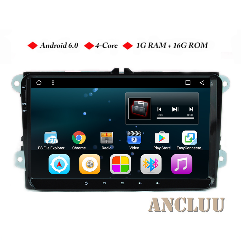 9 inch Android 6.0 Car DVD for VW <font><b>golf</b></font> 4 <font><b>golf</b></font> <font><b>5</b></font> 6 touran passat B6 sharan jetta polo tiguan gps navi for Skoda stereo