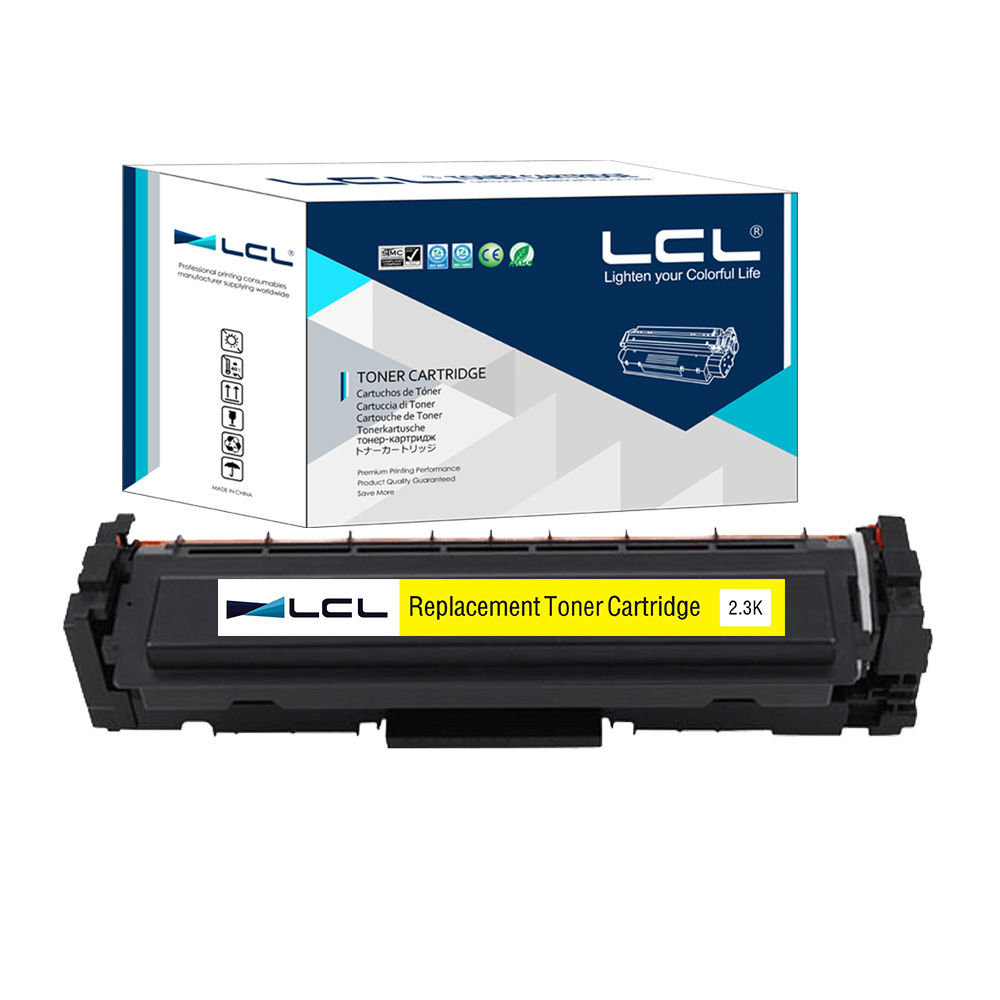 ФОТО LCL 410A CF412A 410 CF412 412A  CF 412 A (1-Pack) Yellow Toner Cartridge Compatible for HP Color LaserJet Pro M452dn/M477fdw/fnw